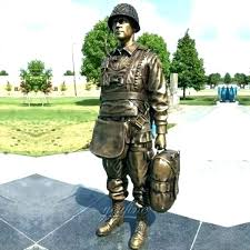 life size n statues military bronze army figurines for garden angel august