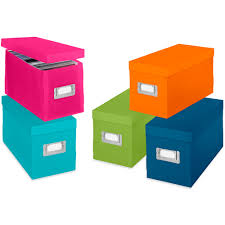 Decorative Cd Storage Boxes Colorful Plastic CD Boxes Set of 60 in Media Storage Boxes 1