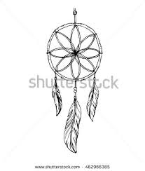How To Draw A Dream Catcher Vector Hand Draw Dream Catcher Stock Vector 100 Shutterstock 55