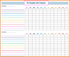 Monthly Payment Sheet Monthly Bill Pay Spreadsheet Free Payment Excel Organizer
