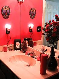Sugar Skull Bathroom Decor Day Of The Dead Bathroom Sugar Skull Bathroom Pinterest