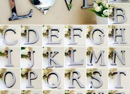 26 letters diy 3d mirror acrylic wall sticker decals home