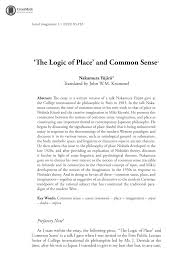 the logic of place and common sense nakamura y jir john w m document is being loaded