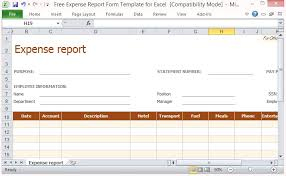 Blank Expense Report Form Excel Expense Report Form