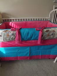 perfect hot pink turquoise elephant girls baby bedding by abusymother hot pink crib bedding