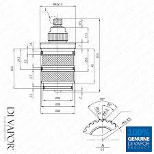 shower valve thermostatic cartridge hudson reed sa30049 therm tech diagram
