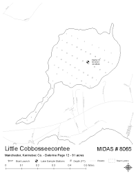 Cobbosseecontee Lake Depth Chart Lakes Of Maine Lake Overview Little Cobbosseecontee