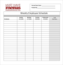 employee schedules templates restaurant schedule template 11 free excel word documents