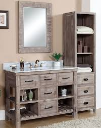 bathroom vanities 48 inch. 48 Inch Rustic Bathroom Vanity Carrera White Marble Top Bathroom Vanities