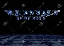Stage Lighting Truss Rock Stage Lighting With Professional Spot Lights And Truss Construction