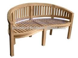 teak outdoor bench. Solid Teak Garden Patio Peanut Benches Outdoor Furniture Indonesia Bench