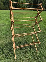 vintage wooden clothes drying rack approx 57 x 31 x 21 primitive 1 of 9only 1 available vintage wooden clothes drying rack