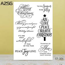 <b>AZSG</b> Italy Word Graceful Calligraphy <b>Clear</b> Stamps/Seals For DIY ...