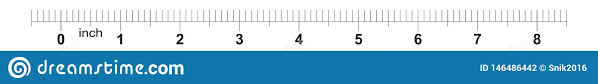 8 Inch Tape Measure Ruler With 0 1 Inch Markings Metric