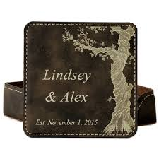 3rd anniversary leather coasters