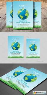 Earth Day Flyer Template 1393474 Free Download Vector