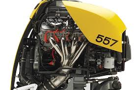 the new 627 horsepower marine seven outboard is based on the 557 horsepower model introduced a few years ago both feature a 6 2 liter lsa engine