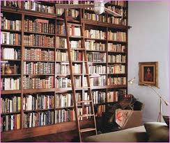 ... Home Library Bookcases Tall And Long Classical Design Ideas With Full  Of Books Inside Recomended For ...