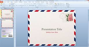 Theme Ppt 2010 Free Download Airmail Powerpoint Template