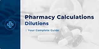 Dilutions Dilution Calculations For Pharmacy Students