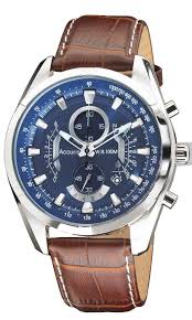 accurist mens chronograph brown strap watch ms785n hollins accurist chronograph brown strap mens watch ms785n