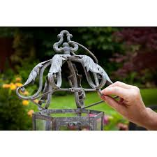wrought iron garden candle lantern