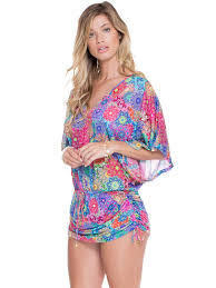 Luli Fama Mandala Multicoloured Kaftan Beach Cover Up Hidrocoral