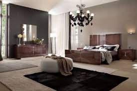 Modern Bedroom Chandeliers Decorations Elegant Master Bedroom With Glossy Bed Frame Also