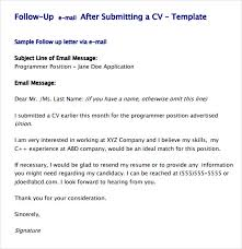 sample follow up email after submitting resume. sample follow up ...