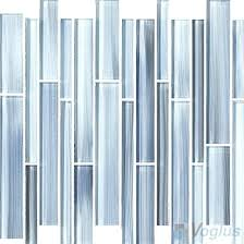 allen roth durium linear mosaic glass wall tile blue gray hand painted tiles