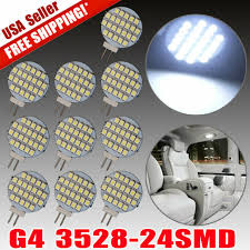 20x Pure White <b>High Bright</b> G4 3528 24 SMD Reading Marine Boat ...