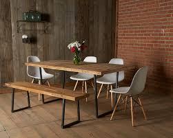 reclaimed wood furniture modern. minimalist dining room photo in chicago reclaimed wood furniture modern n
