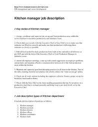 29 unique images of kitchen manager job description kojiki