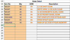 Ordering Spreadsheet How To Use Order Entry Template To Place Bulk Orders