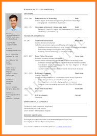 5 Cv Sample For Job Application Pdf Theorynpractice
