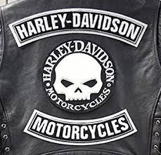 willie g grande harley davidson skull 3 piece patch kit for vest