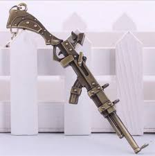 the sheriff of piltover caitlyn gun chain cool metal key ring