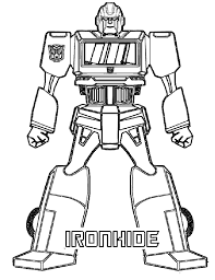 Iron Hide Transformer Coloring Page Transformer Coloring Pages