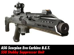 stubby pdw suppressor scorpion evo