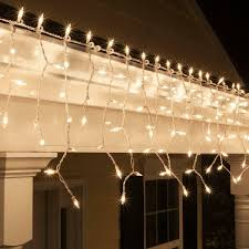 Used Outdoor Christmas Lights For Sale 8 5 Ft 150 Clear Icicle Lights White Wire Indoor Outdoor Christmas Lights