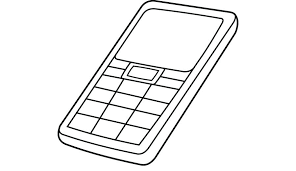Iphone Coloring Pages Cell Phone Colouring Colouring Pages Coloring