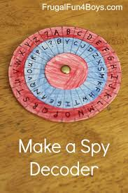 Code Activity For Kids Make A Spy Decoder Frugal Fun For Boys And