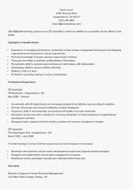 Change Of Career Resume New Unique Examples Resumes Ecologist Resume