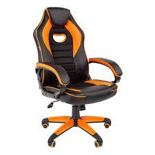 Игровое <b>кресло Chairman game</b> 16 чёрный/оранжевый купить в ...