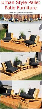 There are many attractive styles to create the patio furniture, but the  urban style reclaimed wood pallet patio furniture looks amazing.
