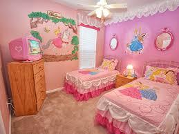 Bedroom:Cute Princess Themed Little Girls Bedroom Decors Disney Bedroom  With Double Pink Comfort Bed