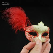 Miniature Masquerade Masks Decorations New Mini Feather Mask Venetian Masquerade Party Decoration 15