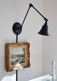 the painted hive a desk lamp becomes wall light intended for mount plug in plans 6