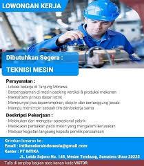 Hanya yang sesuai kreteria di atas yang akan dipanggil untuk interview 2. Teknisi Mesin Di Pt Intika Informasi Lowongan Kerja Medan 2021 Terbaru Hari Ini
