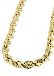 Rope Chain Width Chart Gold Chain Mens Hollow Rope Chain 10k Gold Frostnyc